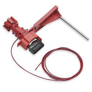 Brady Universal Valve Lockout w/ Sheathed Cable & Blocking Arm - BRD 51392
