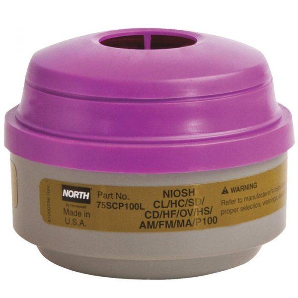 North Defender Multi-Gases/Vapors/P100 Respirator Cartridges